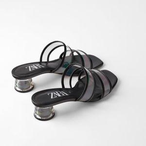 ZARA Methacrylate and vinyl sandals